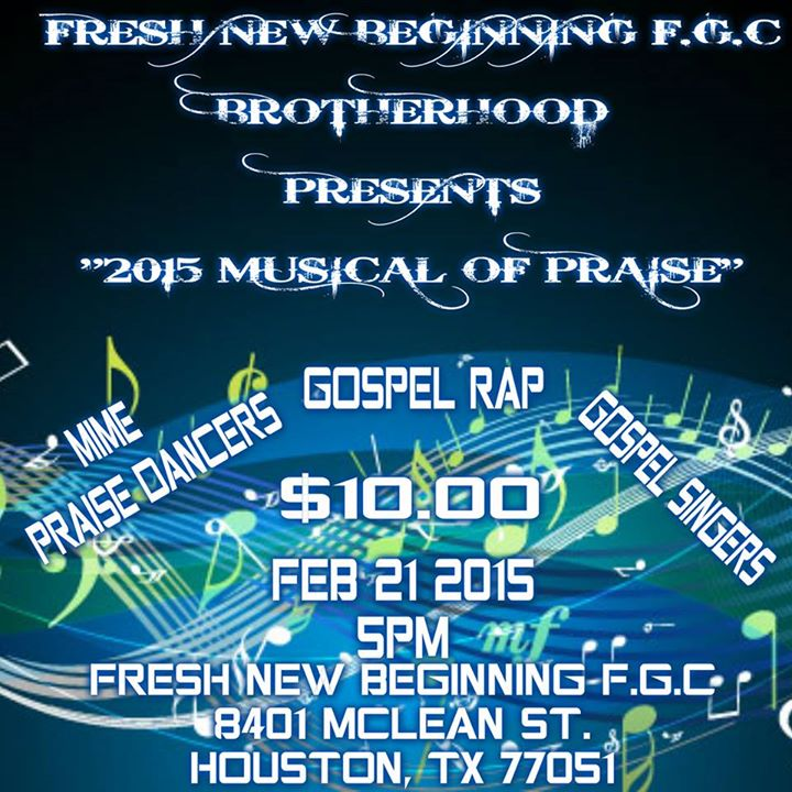 Fresh New Beginnings 2015 Musical of Praise