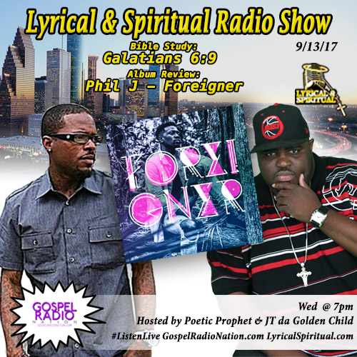 Lyrical & Spiritual Radio Show 69 with Trevor Lee and review for Phil J